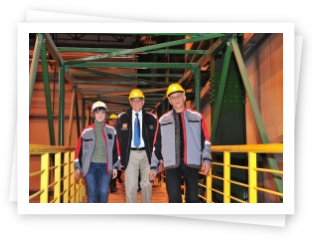 Nobel prize winner has visited INTERPIPE STEEL