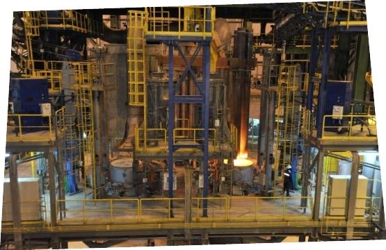 Twin-position ladle furnace unit